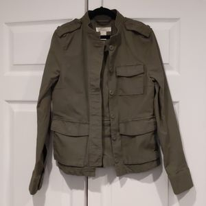 H&M utility jacket in green size 4
